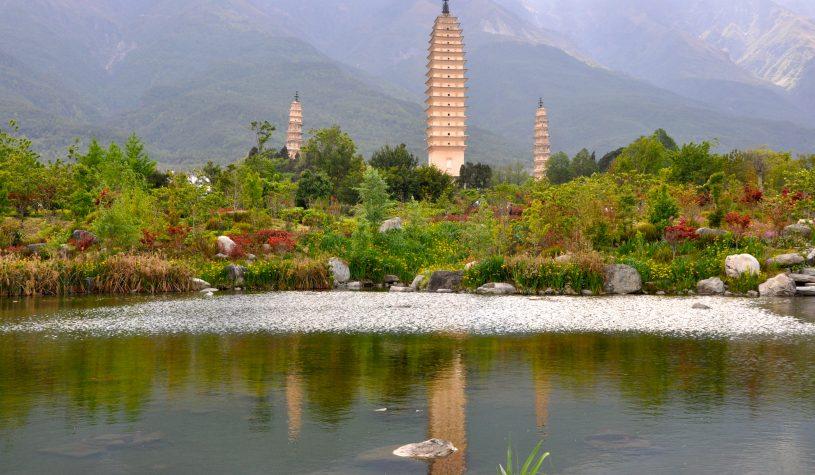 A Cidade de Dali e os seus três pagodes