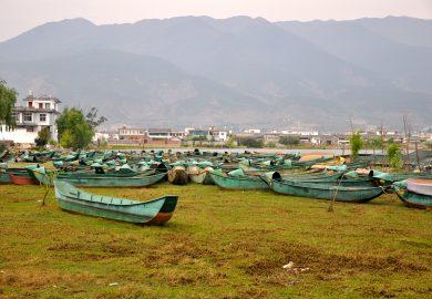 Xizhou e a pesca com cormorões