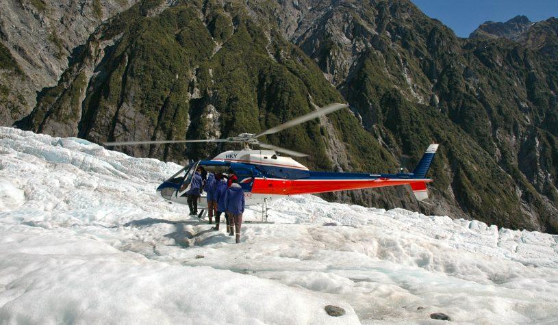 Os glaciares da Nova Zelândia