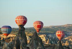 Um voo de balão na Capadócia