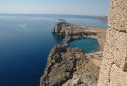 A Acrópole de Lindos na Ilha de Rodes
