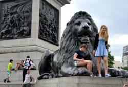 Piccadilly Circus e Trafalgar Square