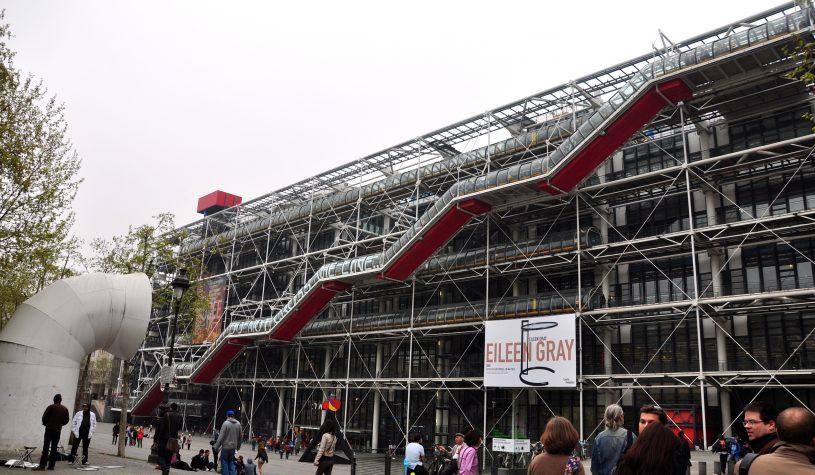 O Centro Georges Pompidou e a Gallerie Lafayette
