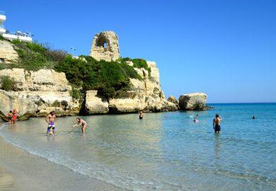 As praias da Puglia, na Península de Salento