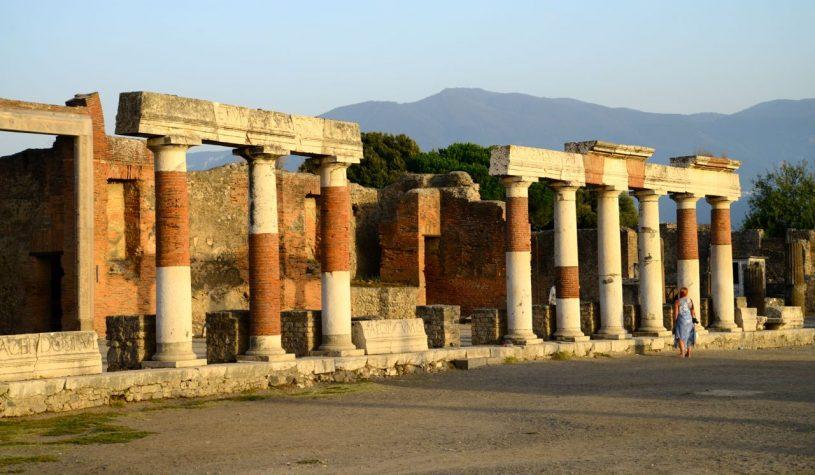 As ruínas de Pompéia
