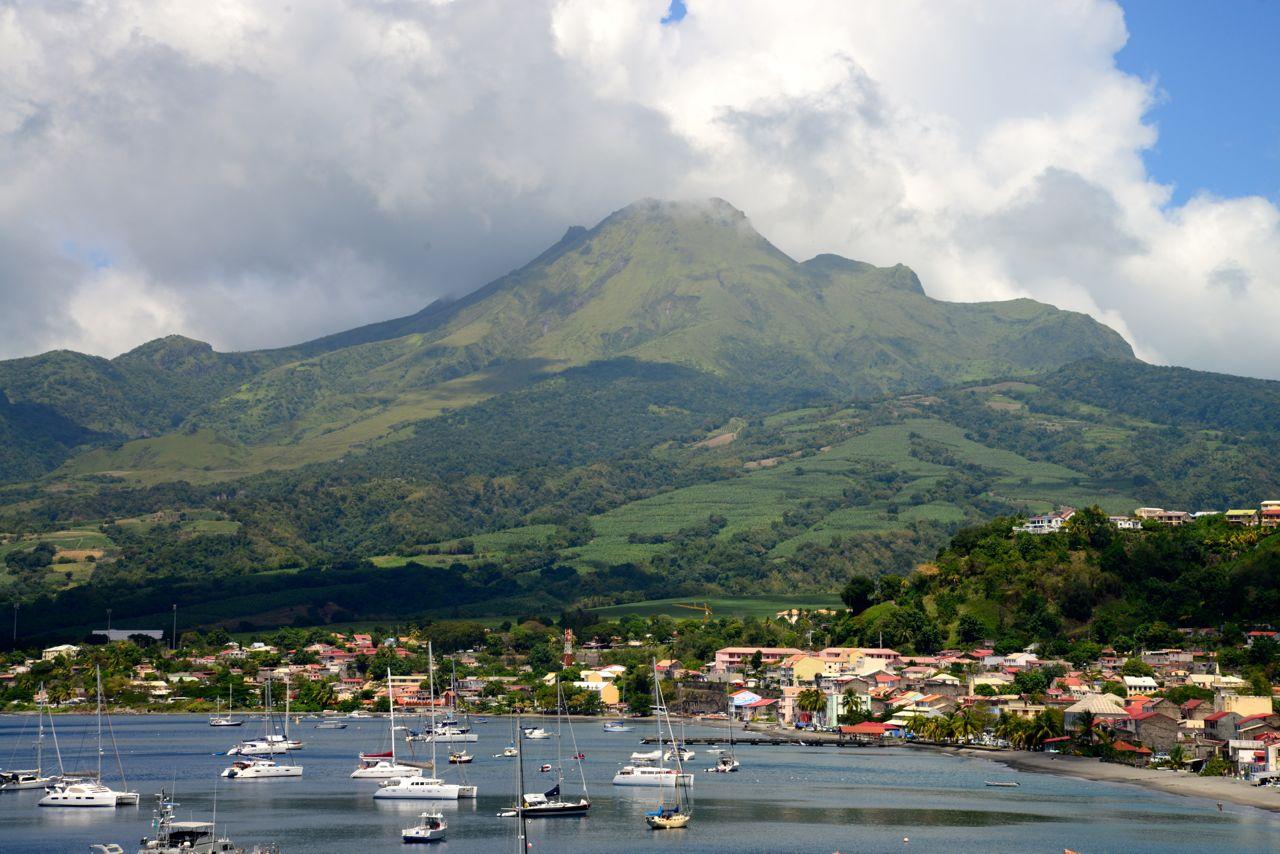 O Mont Pelée, na Ilha da Martinica