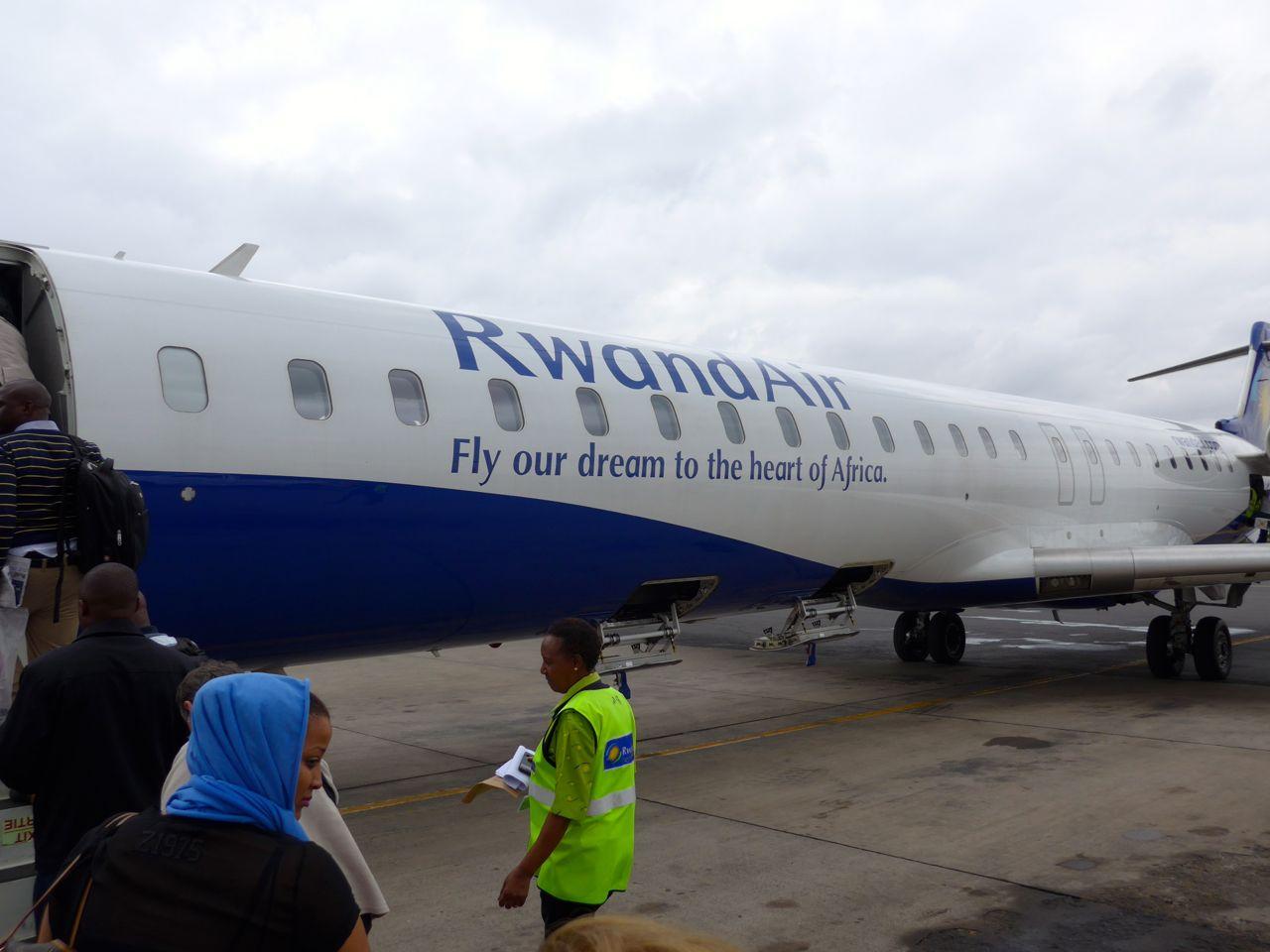 Chegando a Ruanda