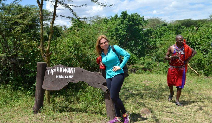 Chegando à Reserva Masai Mara no Quênia