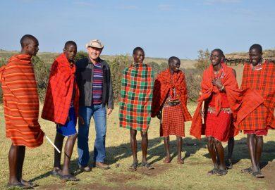 A aldeia Masai no Quênia