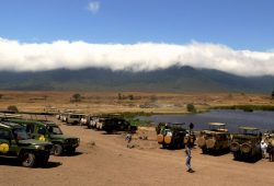 A Cratera do Ngorongoro na Tanzânia