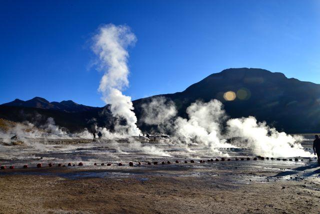 Gêiseres de El Tatio, os contrastes do Atacama
