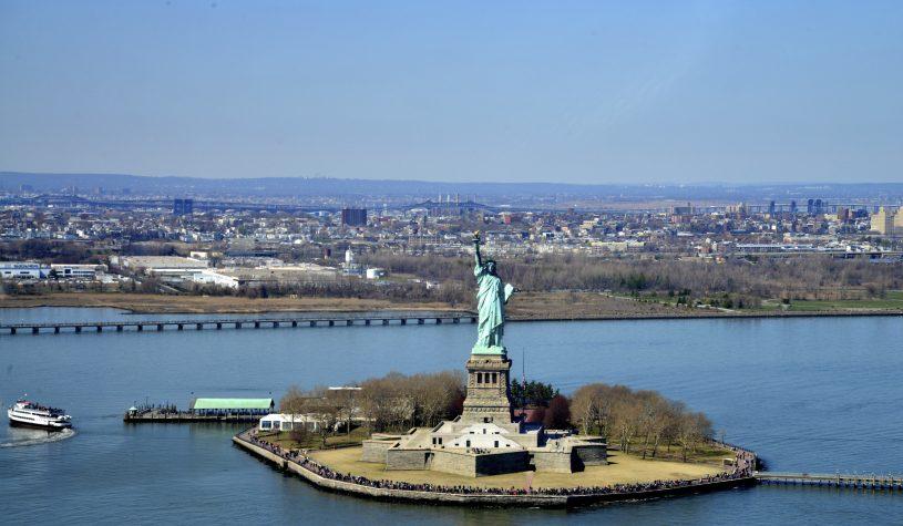 A Estátua da Liberdade e a Ellis Island