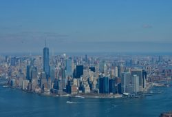 Um voo de helicóptero sobre Nova York