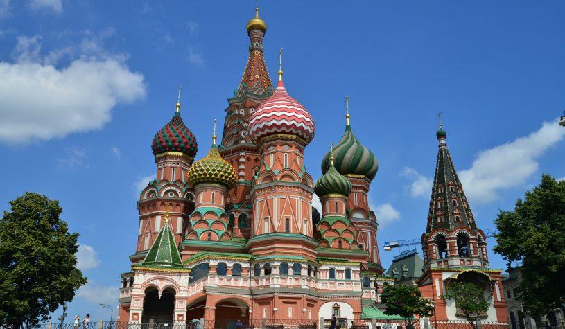 A Catedral de São Basílio, o Mausoléu de Lênin e o Gum