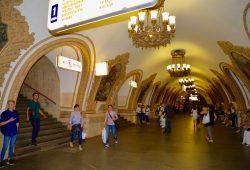 O fabuloso metrô de Moscou