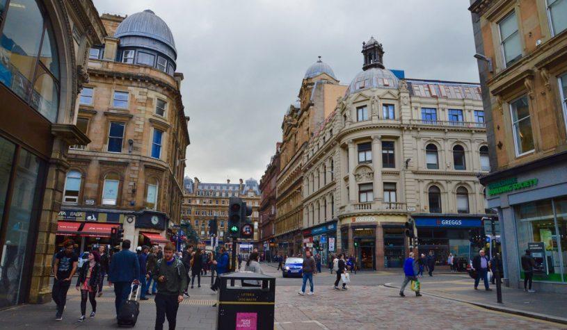 Entrando na Escócia por Glasgow