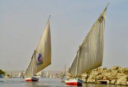 Um passeio de felucca pelo Rio Nilo
