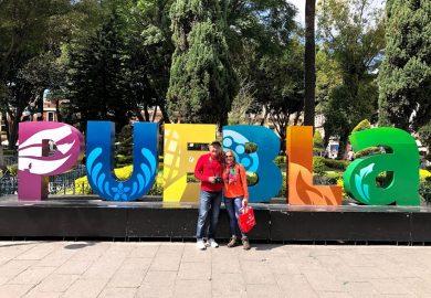 O centro histórico de Puebla