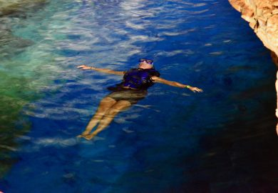 Nadando no Poço Azul